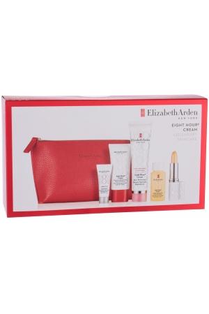 Elizabeth Arden Eight Hour Cream Skin Protectant Body Balm 50ml Combo: Body Balm 50 Ml + Hand Cream 30 Ml + Moisturizing Oil 30 Ml + Lip Balm SPF15 3,7 G + Protective Care Great 8 SPF35 5 Ml + Cosmetic Bag