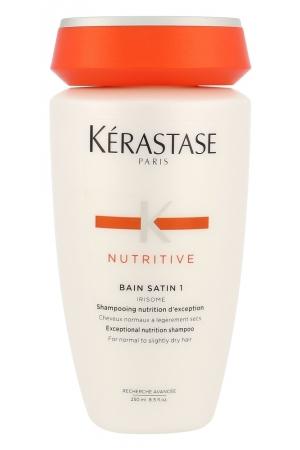 Kerastase Nutritive Bain Satin 1 Irisome Shampoo 250ml (Fine Hair - Normal Hair - Dry Hair)