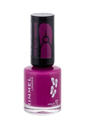 Rimmel London 60 Seconds Flip Flop Nail Polish 8ml 336 Violet En Vogue (Purple)