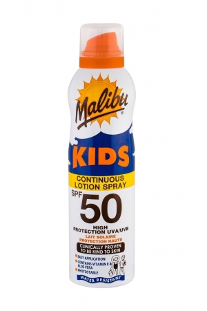 Malibu Kids Continuous Lotion Spray Sun Body Lotion 175ml Waterproof Spf50
