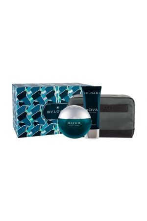 Bvlgari Aqva Pour Homme Eau De Toilette 100ml Combo Edt 100 Ml + Aftershave Balm 100 Ml + Cosmetic Bag
