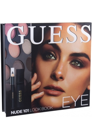 Guess Look Book Eye Eye Shadow 101 Nude 13,92gr Combo: Eye Shadow 12 X 1,16 G + Mascara Black 4 Ml + Eye Pencil Black 0,5 G + Mirror