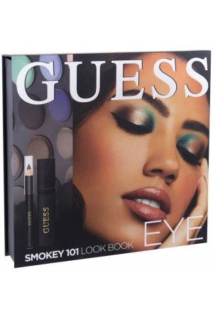 Guess Look Book Eye Eye Shadow 101 Smokey 13,92gr Combo: Eye Shadow 12 X 1,16 G + Mascara Black 4 Ml + Eye Pencil Black 0,5 G + Mirror