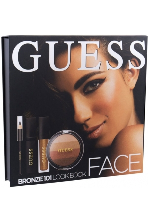 Guess Look Book Face Blush 101 Bronze 14gr Combo: Blush 14 G + Lip Shine Matte 4 Ml + Mascara Black 4 Ml + Eye Pen Black 0,5 G + Mirror