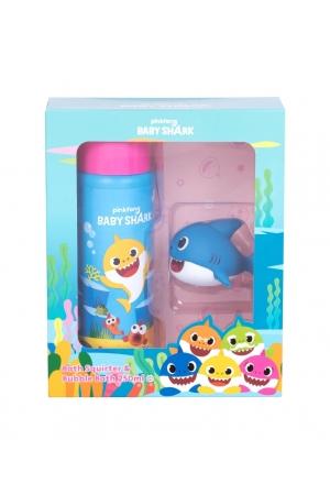 Pinkfong Baby Shark Bubble Bath Kit Bath Foam 250ml - Set Combo Bath Foam 250 Ml + Bath Toy 1 Pc