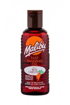 Malibu Fast Tanning Oil Sun Body Lotion 100ml Waterproof