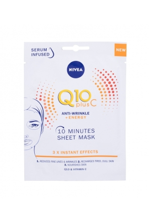 Nivea Q10 Plus C 10 Minutes Sheet Mask Face Mask 1pc (All Skin Types - For All Ages)