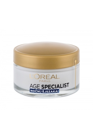 L/oreal Age Specialist 65+ Night Cream - Anti-wrinkle Night Cream With Multivitamins 50ml