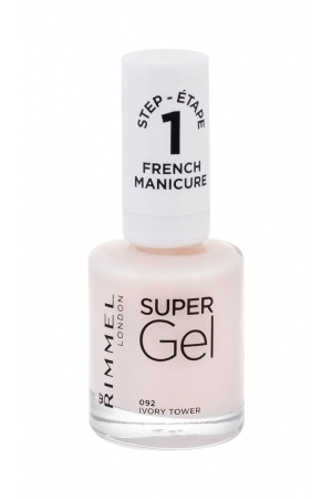 Rimmel London Super Gel French Manicure Step1 Nail Polish 12ml 092 Ivory Tower