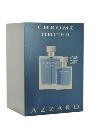 Azzaro Chrome United Eau De Toilette 100ml Combo: Edt 100ml + 30ml Edt