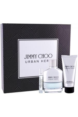 Jimmy Choo Urban Hero Eau de Parfum 100ml Combo: Edp 100 Ml + Edp 7,5 Ml + Aftershave Balm 100 Ml
