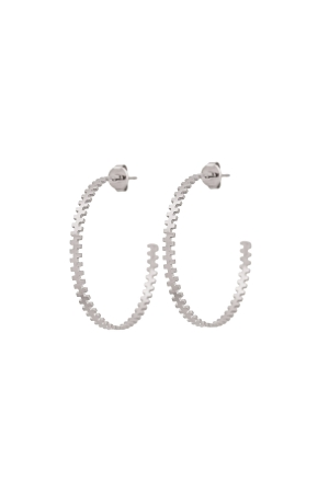 COZY DESIGN hoop earrings in silver tone