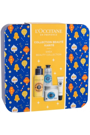 L´occitane Shea Butter Shower Oil 75ml Combo: Shower Oil 75 Ml + Hand Cream 30 Ml + Body Cream Ultra Rich 50 Ml + Lip Balm Ultra Rich 12 Ml + Jar