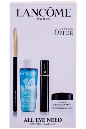 Lancôme Hypnose Mascara 01 Noir Hypnotic 2ml Combo: Mascara 2 Ml + Eye Pencil Crayon Khol 1,14 Noir + Make-up Remover Bi-Facil 30 Ml + Eye Cream Advanced Génifigue 5 Ml