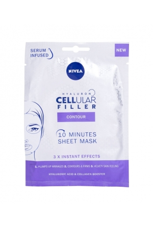 Nivea Hyaluron Cellular Filler 10 Minutes Sheet Mask Face Mask 1pc (All Skin Types - Mature Skin)