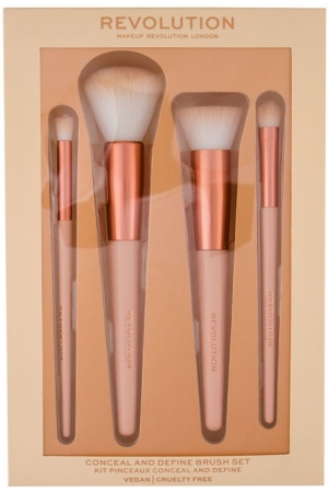 Makeup Revolution London Conceal & Define Brush Set 4 Pieces