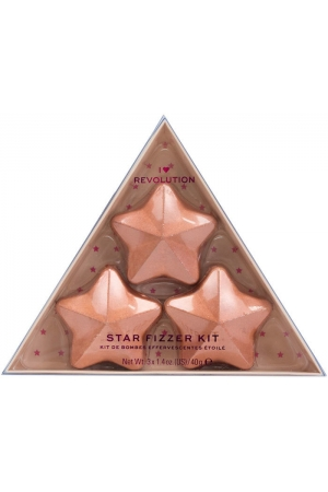 Makeup Revolution London I Heart Revolution Star Fizzer Bath Foam Coconut 40gr Combo: Star Bath Fizzer 3 X 40 G