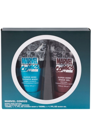 Marvel Comics Hero Shower Gel 150ml Combo: Shower Gel 150 Ml + Shaving Gel 150 Ml
