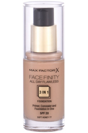 Max Factor Facefinity 3 in 1 SPF20 Makeup 77 Soft Honey 30ml