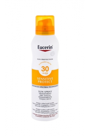 Eucerin Sun Sensitive Protect Sun Spray Dry Touch Sun Body Lotion 200ml Waterproof Spf30