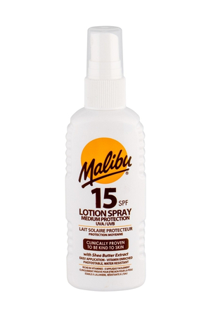 Malibu Lotion Spray Sun Body Lotion 100ml Waterproof Spf15