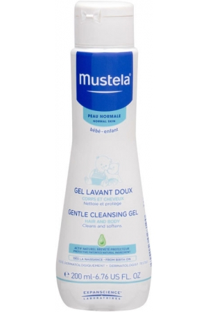 Mustela Bébé Gentle Cleansing Gel Hair and Body Shower Gel 200ml