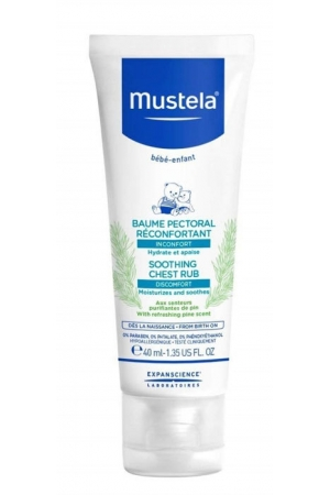 Mustela Bébé Soothing Chest Rub Body Balm 40ml