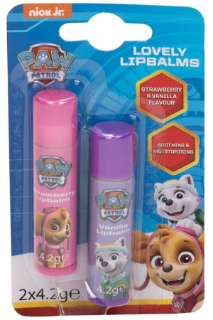 Nickelodeon Paw Patrol Lovely Lip Balms Lip Balm Strawberry 4,2gr Combo: Lip Balm 4,2 G + Lip Balm 4,2 G Vanilla (For All Ages)
