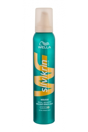 Wella Silvikrin Brilliant Shine Hold Hair Mousse 200ml (Extra Strong Fixation)