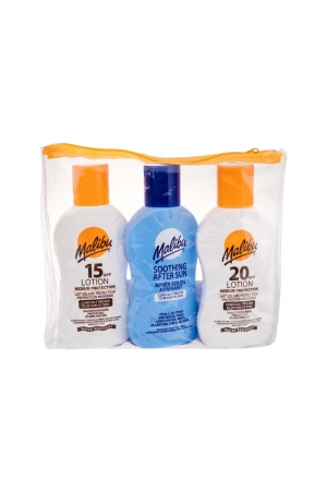 Malibu Lotion Sun Body Lotion 100ml Waterproof Spf20 Combo: Sunbathing Milk Spf20 100 Ml + Sunbathing Milk Spf15 100 Ml + After Sun Lotion 100 Ml