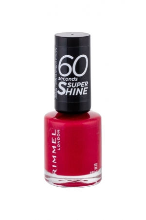 Rimmel London 60 Seconds Super Shine Nail Polish 8ml 312 Be Red-y (Red)