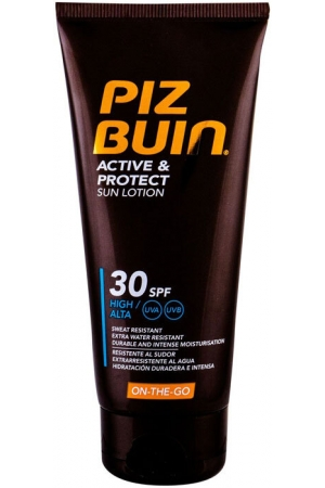 Piz Buin Active & Protect Sun Lotion SPF30 Sun Body Lotion 100ml (Waterproof)