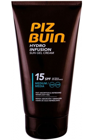 Piz Buin Hydro Infusion Sun Gel Cream SPF15 Sun Body Lotion 150ml (Waterproof)