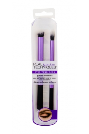 Real Techniques Brushes Eyes Perfect Crease Brush 2pc - Set
