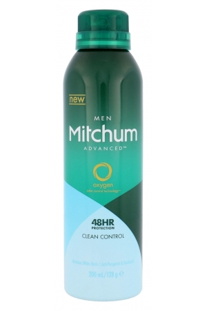 Mitchum Advanced Control Clean Control Antiperspirant 200ml Alcohol Free 48hr (Deo Spray)