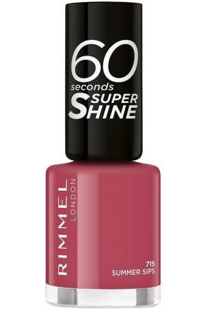 Rimmel London 60 Seconds Super Shine Nail Polish 715 Summer Sips 8ml
