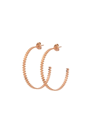 COZY DESIGN hoop earrings in rose gold tone