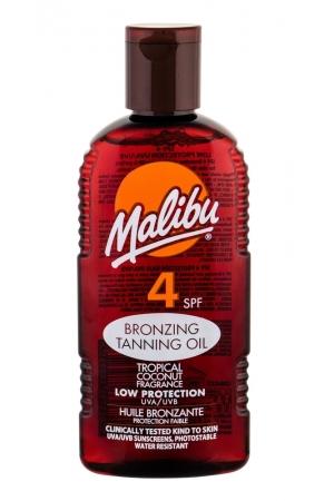 Malibu Bronzing Tanning Oil Sun Body Lotion 200ml Waterproof Spf4