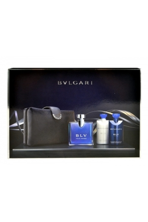 Bvlgari Blv Eau De Toilette 100Ml & 75Ml After Shave Balm & 75Ml Shower Gel & Bag