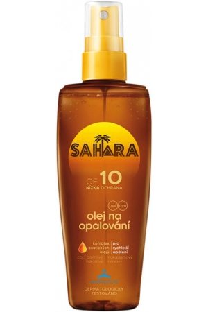 Sahara Sun Tanning Oil SPF10 Sun Body Lotion 150ml (Waterproof)