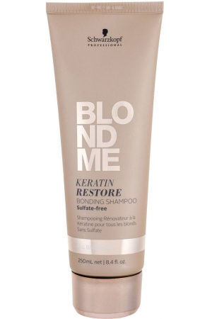 Schwarzkopf Professional Blond Me Keratin Restore Blonding Shampoo Shampoo 250ml (Blonde Hair)