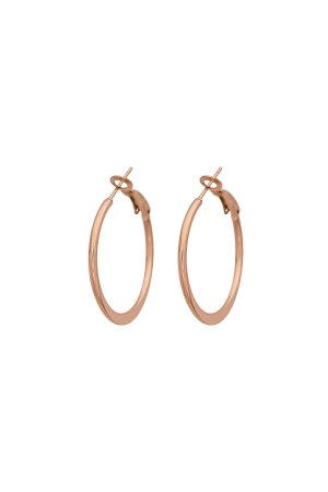 Simply Stylish Rose Gold Hoop Earrings