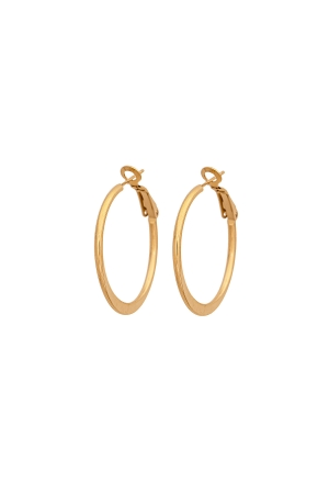 Simply Stylish Gold Hoop Earrings