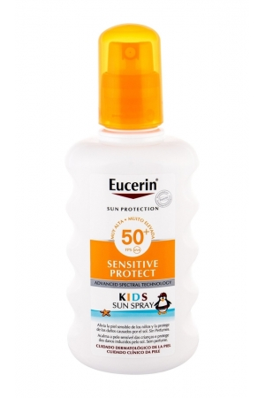 Eucerin Sun Kids Sensitive Protect Sun Spray Sun Body Lotion 200ml Waterproof Spf50+