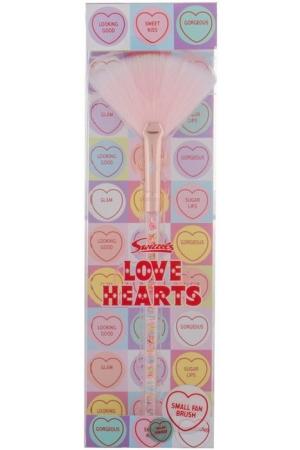 Swizzels Love Hearts Small Fan Brush Brush 1pc