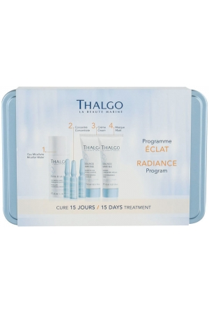 Thalgo Source Marine Day Cream 15ml Combo: Day Care 15 Ml + Face Mask 15 Ml + Cleansing Water Éveil á La Mer 35 Ml + Skin Serum 3 X 1,2 Ml + Jar (For All Ages)