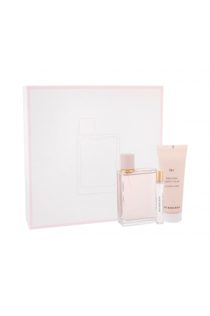 Burberry Her Eau De Parfum 100ml Combo Edp 100 Ml + Body Lotion 75 Ml + Edp 7,5 Ml