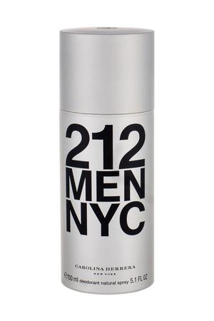 Carolina Herrera 212 Nyc Men Deodorant 150ml Aluminum Free (Deo Spray)