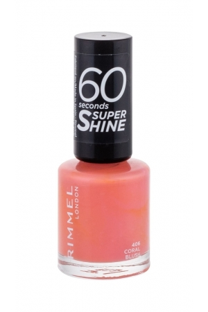 Rimmel London 60 Seconds Super Shine Nail Polish 8ml 406 Coral Blush (Pink)