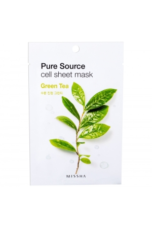 Missha Pure Source Green Tea Face Mask 21gr (Dry - For All Ages)